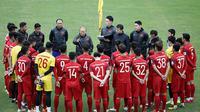 Timnas Vietnam U-23 saat berlatih di bawah arahan pelatih Park Hang-seo. (Bola.com/Dok. VFF)