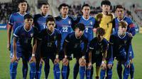 Timnas Indonesia akan menghadapi Chinese Taipei pada Play-off Kualifikasi Piala Asia 2023 yang digelar dalam dua leg pertandingan. (AFP/Ahmad Alameen)