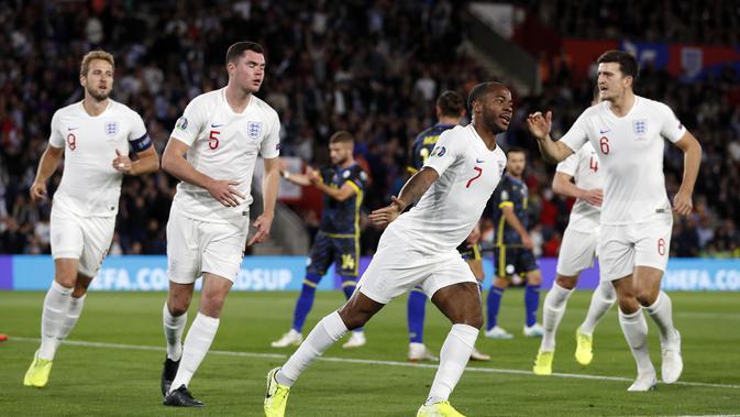 Kualifikasi Euro 2020: 8 Goal Tercipta, Timnas Inggris Sukses Tekuk Kosovo