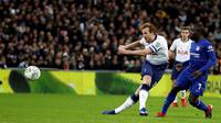 Tottenham Hotspur menjamu Chelsea di Stadion Wembley pada laga leg pertama semifinal Piala Liga Inggris, Selasa (8/1/2019) malam waktu setempat. (AP Photo/Frank Augstein)