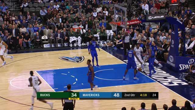 Dallas Mavericks mengalahkan Milwaukee Bucks dengan skor 111-79 dalam lanjutan pertandingan NBA 2017-2018.