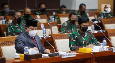 Menhan Prabowo Hadiri Rapat dengan Komisi I DPR