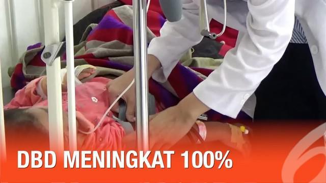 Penyakit DBD meningkat 100 persen di Sukabumi dan membuat seorang anak dikabarkan tewas.