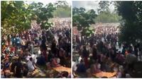 Beredar video di Pantai Batu Karas dipadati ribuan pengunjung, viral di media sosial. (Sumber: Twitter/@MurtadhaOne1)