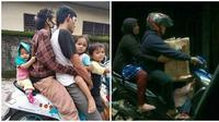 5 Potret Nyeleneh Orangtua Boncengin Anak (Sumber: Instagram/recehtapisayang)