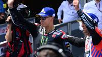 Fabio Quartararo saat raih pole position MotoGP Catalunya, 5 Juni 2021. (LLUIS GENE / AFP)
