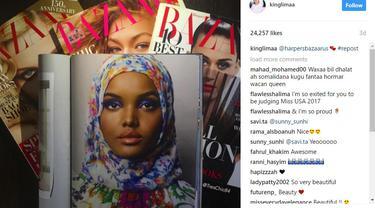 Halima Aden, Model Hijab di Milan Fashion Week