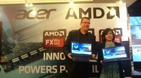 Peluncuran Acer Aspire E5-553G yang dipersenjatai prosesor AMD Bristol Ridge di Jakarta, Senin (20/6/2016).