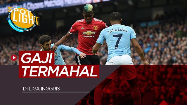 Berita video spotlight kali ini akan membahas tentang lima pemain dengan gaji termahal di Liga Inggris yang didominasi oleh pemain Manchester United dan Manchester City