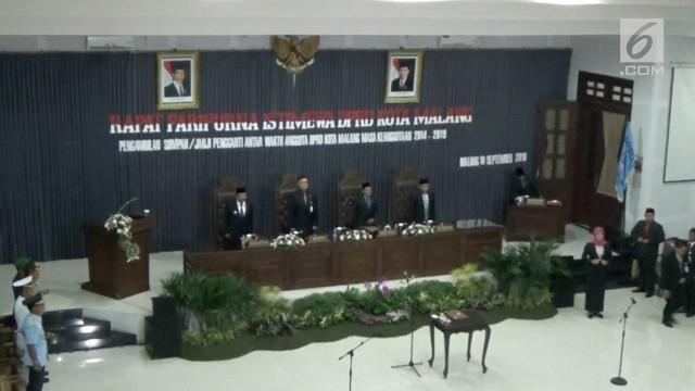 Sebanyak 40 anggota DPRD Kota Malang, Jawa Timur, dilantik pada Senin (10/9/2018) pagi ini.