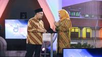 Pasangan Sudirman Said - Ida Fauziyah saat acara debat cagub Jateng. (foto : liputan6.com / edhie prayitno ige)