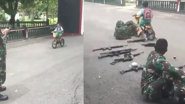 Viral Aksi Kocak Bocah Yang Jatuh Saat Bersepeda Di Markas