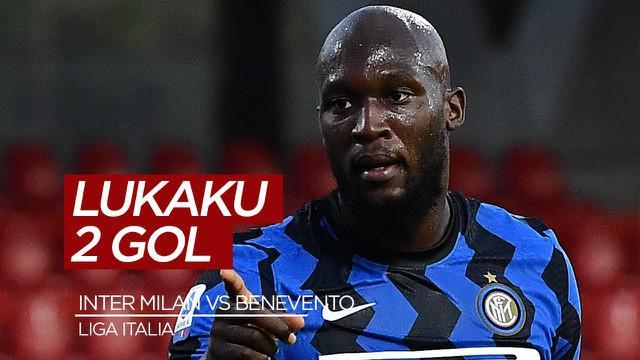 Berita Video Highlights Liga Italia, Romelu Lukaku bawa Inter Milan menang 5-2 atas Benevento