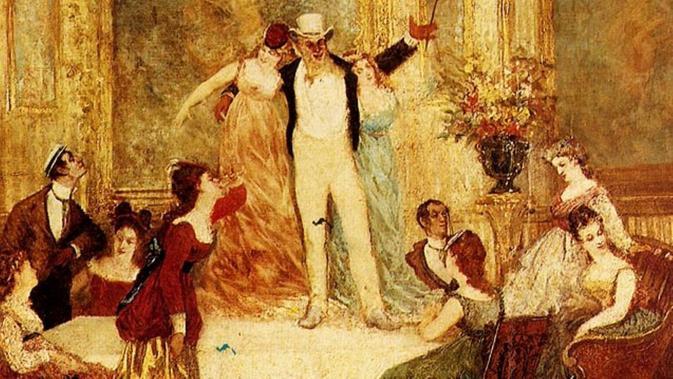 Une Soirée Chez La Païva, lukisan Adolphe Joseph Thomas Monticelli, yang menggambarkan pesta meriah di mansion La Paiva (Public Domain)