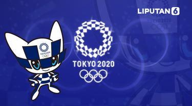 Banner Maskot Olimpiade Tokyo 2020