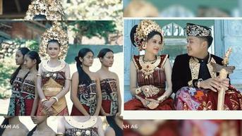 7 Potret Prewedding Azriel Hermansyah dan Sarah Menzel dalam Busana Bali