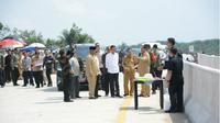 Presiden Joko Widodo mengecek lokasi ibu kota negara. (Liputan6.com/Abelda Gunawan)