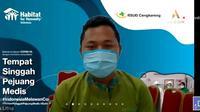 Sudarman, perawat pasien COVID-19 di RSUD Cengkareng. (Liputan6.com/Dinny Mutiah)