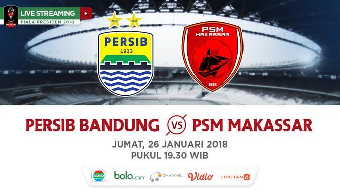 Indosiar Streaming Facebook: Live Streaming Indosiar Piala Presiden: Persib Vs PSM