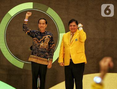 Jokowi - Ma'ruf Amin Hadiri HUT ke-55 Partai Golkar