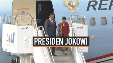 Presiden Jokowi langsung terbang ke Jepang usai Mahkamah Konstitusi membacakan hasil putusan sidang sengketa pilpres 2019. Jokowi menghadiri KTT G20 di Osaka.