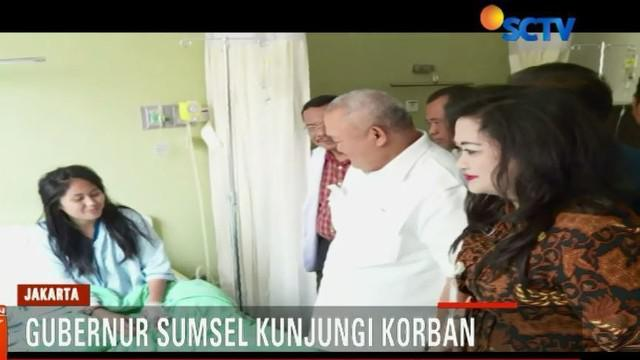 Alex Nurdin datang bersama rombongan Pemerintah Provinsi Sumatera Selatan, Selasa siang mengunjungi Rumah Sakit Jakarta.
