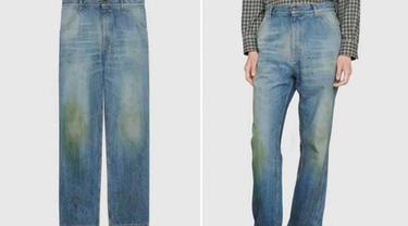Mirip Celana Bekas, Gucci Rilis Jeans Mahal dengan Bercak Rumput