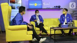 Kolaborasi dalam kampanye IndDOnesia CARE dan membantu menyoroti 5 destinasi super prioritas merupakan bentuk dukungan tiket.com untuk gerak cepat memulihkan pariwisata nasional dan disiplin dalam menjalankan protokol kesehatan. (Liputan6.com/Fery Pradolo)