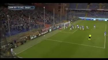 Gol Santiago Gentiletti, Sampdoria 0-1 Lazio, Serie A