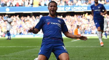 Gelandang Chelsea, Eden Hazard.