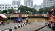 Kondisi Underpass Kemayoran, Jakarta Pusat, Sabtu (25/1/2020). (Merdeka.com/Yunita Amalia)