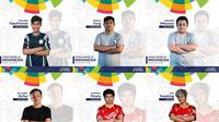 Tim E-Sports Indonesia di nomor League of Legends, sebagian dari 17 figur yang akan mewakili Indonesia di Asian Games 2018.