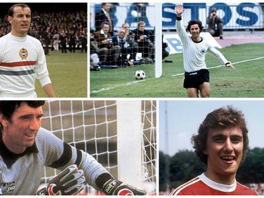 Mulai dari kiper legendaris Italia, Dino Zoff hingga bek tangguh Jerman, Franz Beckenbauer, menjadi bintang-bintang sepak bola Eropa yang pernah mentas di ajang Euro Cup. Berikut 10 bintang dunia yang bersinar pada Piala Eropa periode 1960-1970.
