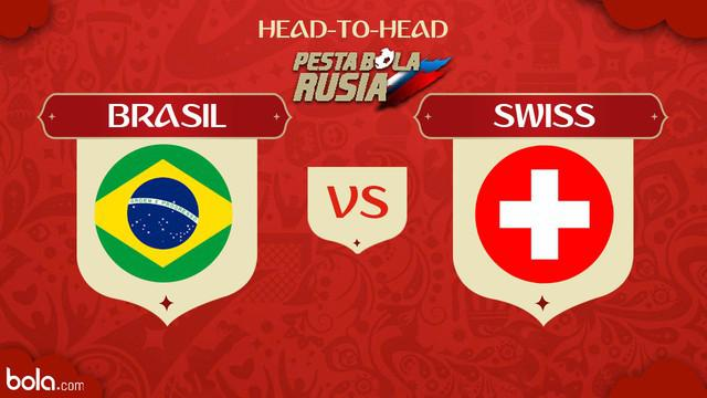 Berita video head-to-head Piala Dunia Rusia 2018: Brasil vs Swiss.
