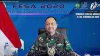 Kepala Staf Angkatan Udara (Kasau) Marsekal TNI Fadjar Prasetyo saat membuka Festival Edukasi Sekolah Angkasa (Fesa) 2020. (Foto: Istimewa)