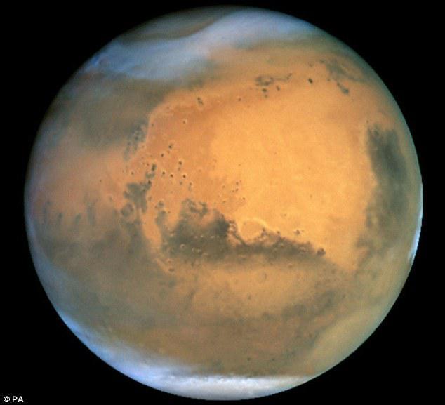 Gambaran planet Mars. Foto: copyright dailymail.co.uk