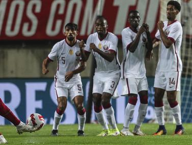 Foto: Cristiano Ronaldo Cetak Gol, Portugal Tundukkan Qatar 3-0