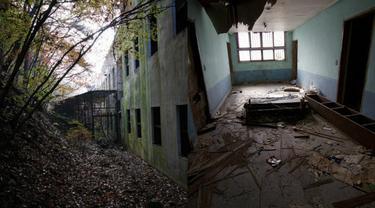 Menyeramkan, inilah suasana rumah sakit yang ditinggal hampir 22 tahun lebih.