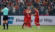 Vietnam lolos ke semifinal Piala AFF 2018 sebagai juara Grup A. (AFF Suzuki Cup)