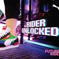 Untuk pertama kalinya, Puma menghadirkan seorang model virtual untuk memeragakan koleksi sepatu yang futuristik dan retro (Foto: Puma)
