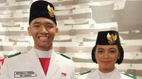 Rayhan Alfaro Ferdinand Siregar dan Rachel Emmanuel Miranda Putong Pasangan Paskibraka Nasional 2019 dari DKI Jakarta. (Foto: Istimewa)