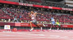 Catatan waktu De Grasse juga menjadi rekor nasional nomor 200 meter Kanada, yaitu 19,68 detik. Selain itu, dirinya juga tercatat sebagai sprinter tercepat kedelapan di dunia. (Foto: AFP/Jewel Samad)