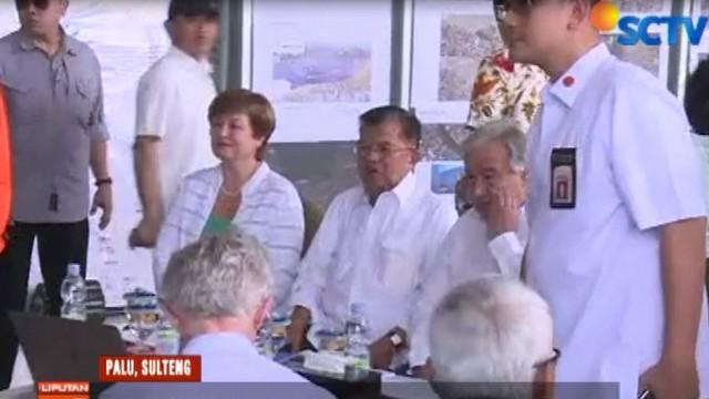 Hal tersebut disampaikan wakil presiden saat melakukan kunjungan ke Kota Palu bersama Sekjen PBB Antonio Guteres.