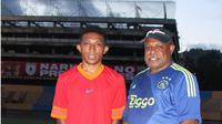 Revalino Utrech Collin Manibor, satu di antara tiga pesepak bola Papua yang menjalani tes dan magang di Valencia. (Cendrawasih Pos)