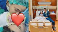 Momen Persalinan Anak Pertama Angbeen Rishi. (Sumber: Instagram/adlyfayruz dan Instagram/angbeenrishi)