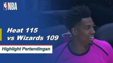 Hassan Whiteside mencetak double-double dengan 21 poin dan 18 rebound untuk memimpin Miami melewati Washington.