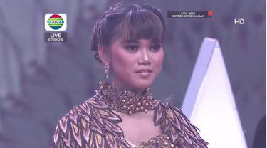 Grand Finalis Puput asal Sulawesi Selatan berduet dengan Fildan DAA di Konser Kemenangan LIDA 2019 Jumat (3/5/2019) malam di Indosiar