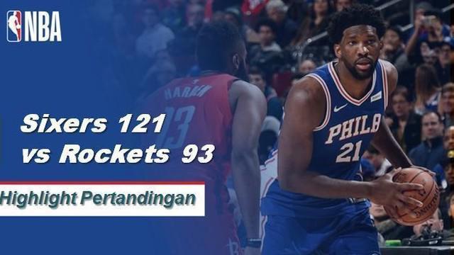 Terlepas dari 37 poin dari James Harden untuk melanjutkan kemenangannya, Rockets menderita kekalahan terburuk mereka musim ini di belakang double-double Joel Embiid yang mengesankan (32 poin, 14 rebound).