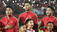 Kiper Timnas Indonesia U-19, Muhammad Riyandi. (Bola.com/Aditya Wany)
