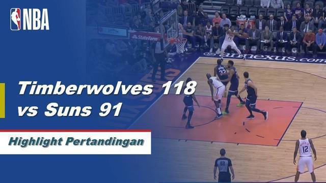 Karl-Anthony Towns berakhir dengan 25 poin dan 18 rebound saat Timberwolves menjaga Suns di jalan.